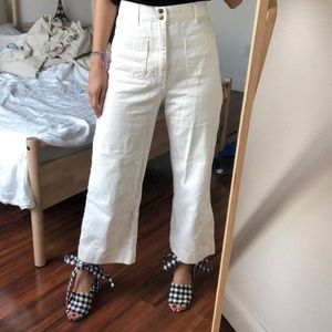 & other stories beige coulotte pants